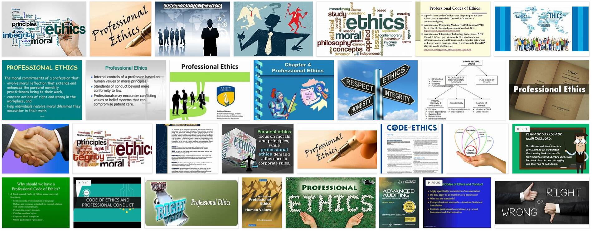 Professional Ethics Definition and Meaning